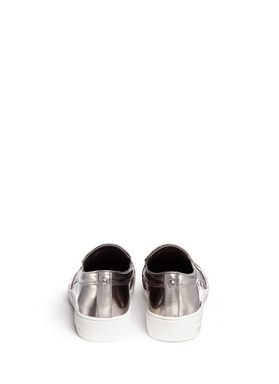 Back View - Click To Enlarge - Michael Kors - 'Keaton' mirror leather skate slip-ons