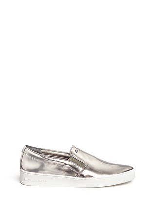 Main View - Click To Enlarge - Michael Kors - 'Keaton' mirror leather skate slip-ons