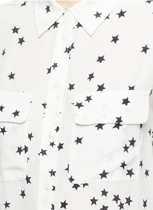 Detail View - Click To Enlarge - Equipment - 'Slim Signature' star print silk shirt