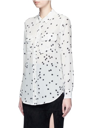 Front View - Click To Enlarge - Equipment - 'Slim Signature' star print silk shirt