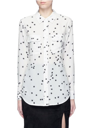 Main View - Click To Enlarge - Equipment - 'Slim Signature' star print silk shirt