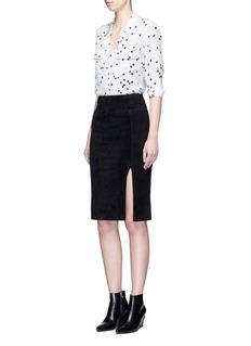 EQUIPMENT'Slim Signature' star print silk shirt