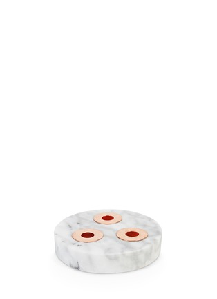 Main View - Click To Enlarge - &K - Marble trio candleholder