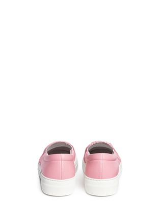 Back View - Click To Enlarge - Joshua Sanders - x BYTE Giuliana Teso 'Pink Luv U' fur leather skate slip-ons