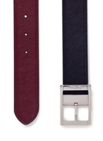 Reversible saffiano leather belt
