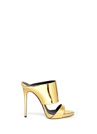 Main View - Click To Enlarge - Giuseppe Zanotti Design - 'Coline' mirror leather mule sandals
