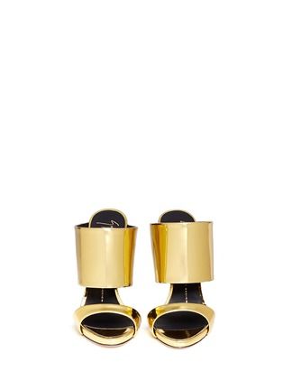 Figure View - Click To Enlarge - Giuseppe Zanotti Design - 'Coline' mirror leather mule sandals