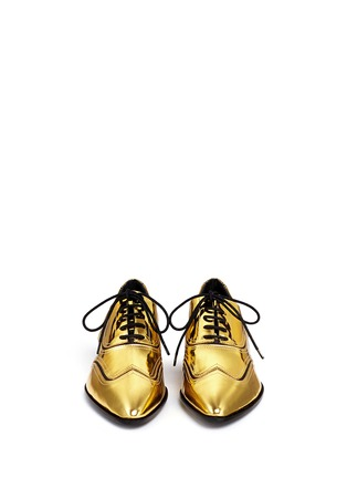 Figure View - Click To Enlarge - Giuseppe Zanotti Design - 'Guns Shooting' mirror leather wingtip Oxfords