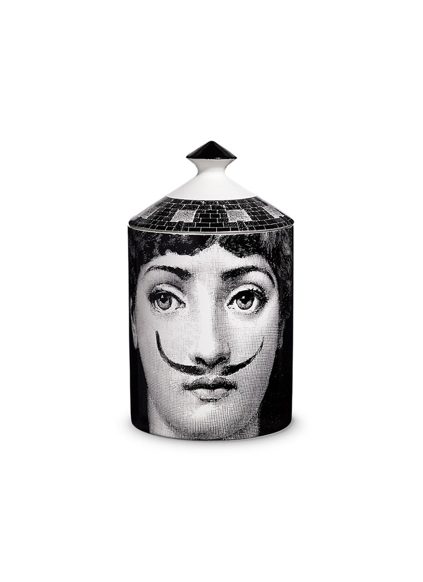 La Femme Aux Moustaches small scented candle by Fornasetti