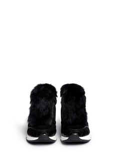ASH'Link' rabbit fur suede leather combo sneakers