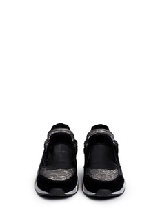 ASH'Hop' lizard embossed suede leather sneakers