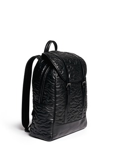 NEIL BARRETT 'Memphis' quilted camouflage eco-leather backpack