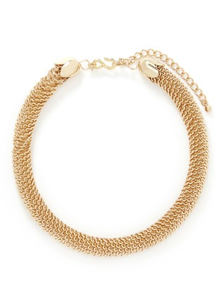 Main View - Click To Enlarge - Kenneth Jay Lane - Thick tube chain choker necklace