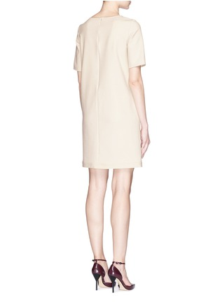 Back View - Click To Enlarge - Armani Collezioni - Stretch gabardine pocket shift dress