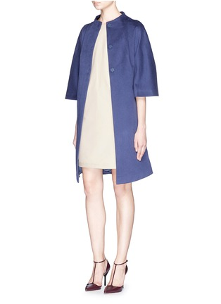 Figure View - Click To Enlarge - Armani Collezioni - Stretch gabardine pocket shift dress