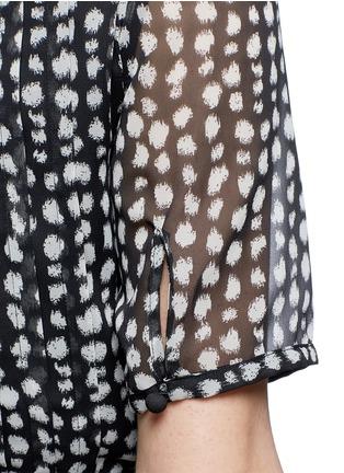 Detail View - Click To Enlarge - Armani Collezioni - Mist dot print chiffon dress