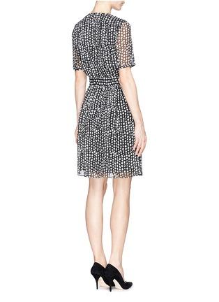 Back View - Click To Enlarge - Armani Collezioni - Mist dot print chiffon dress