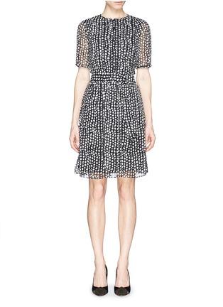 Main View - Click To Enlarge - Armani Collezioni - Mist dot print chiffon dress