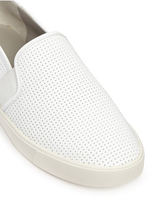 Detail View - Click To Enlarge - Vince - 'Blair' perforated leather skate slip-ons