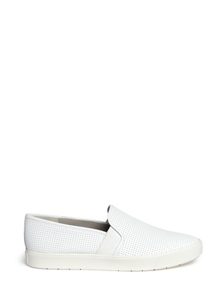 Main View - Click To Enlarge - Vince - 'Blair' perforated leather skate slip-ons
