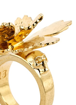 细节 - 点击放大 - ALEXANDER MCQUEEN - 莲花造型金属戒指
