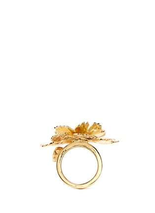 Figure View - Click To Enlarge - Alexander McQueen - Lotus flower ring