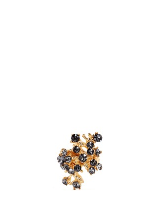 Main View - Click To Enlarge - Alexander McQueen - Cherry blossom crystal skull ring