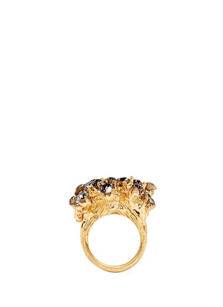 Figure View - Click To Enlarge - Alexander McQueen - Cherry blossom crystal skull ring