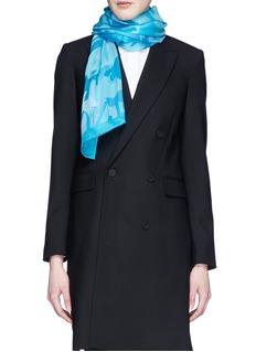 VALENTINO'Camupsychedelic' silk chiffon scarf