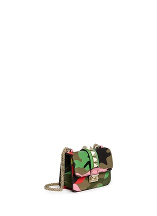 Figure View - Click To Enlarge - Valentino - 'Camupsychedelic Rockstud Lock' mini leather chain bag