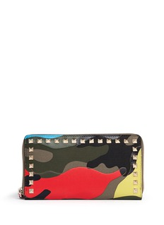 VALENTINO'Camupsychedelic' print zip continental wallet