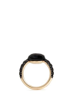 细节 - 点击放大 - POMELLATO - CAPRI 18K玫瑰金玛瑙黑钻石戒指