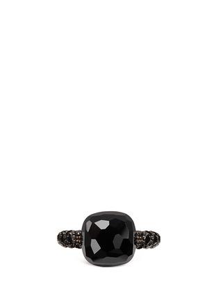首图 - 点击放大 - POMELLATO - CAPRI 18K玫瑰金玛瑙黑钻石戒指