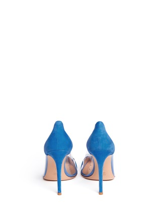 Back View - Click To Enlarge - Gianvito Rossi - Clear PVC suede pumps