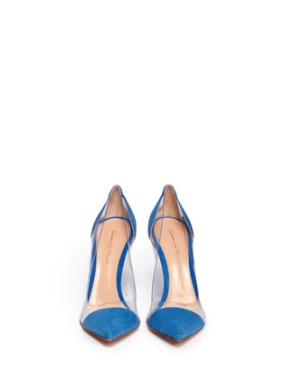 Figure View - Click To Enlarge - Gianvito Rossi - Clear PVC suede pumps
