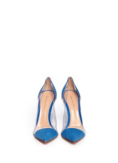 GIANVITO ROSSI Clear PVC suede pumps