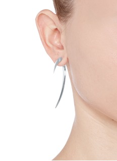 SHAUN LEANELarge silver hook earrings
