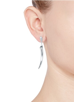 Figure View - Click To Enlarge - Shaun Leane - Silver knife edge tusk earrings
