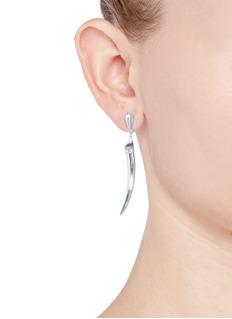 Shaun LeaneSilver knife edge tusk earrings