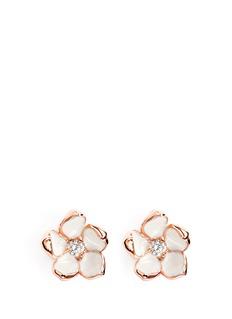 SHAUN LEANECherry blossom diamond earrings