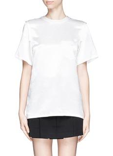 ALEXANDER WANG Distressed back sateen panel T-shirt