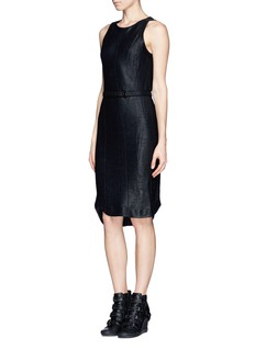 RAG & BONE 'Olivia' leather patch knit dress