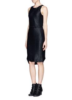 RAG & BONE'Olivia' leather patch knit dress