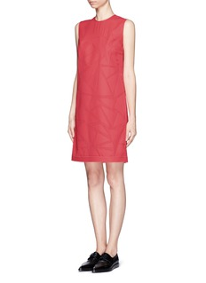 VICTORIA, VICTORIA BECKHAM Triangle patchwork crepe dress