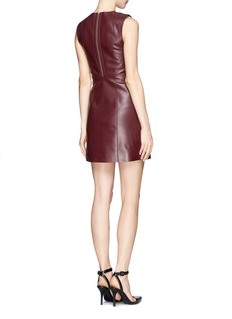 T BY ALEXANDER WANG Lambskin leather shift dress