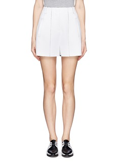 T BY ALEXANDER WANGDouble faced pleat shorts