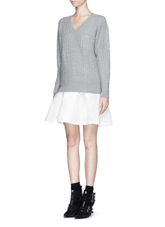 SACAI LUCKSweater and quilted skirt combo dress
