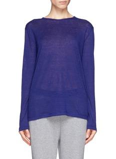 T BY ALEXANDER WANGLinen silk-jersey T-shirt