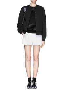 T BY ALEXANDER WANGBonded jersey bomber jacket