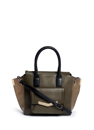 Main View - Click To Enlarge - TIME'S ARROW - 'Jo' mini duo colour leather tote